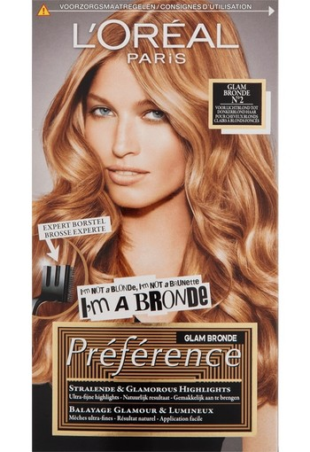 L'Oréal Paris Préference Glam Highlights Permanente Haarkleuring 02 Licht Donkerblond