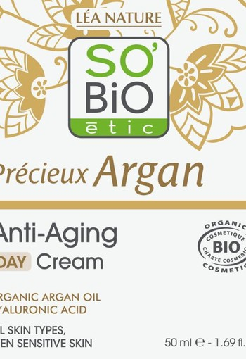 So Bio Etic Argan anti age daycream (50 ml)