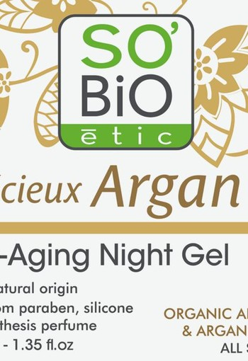 So Bio Etic Argan AA night gel (40 ml)