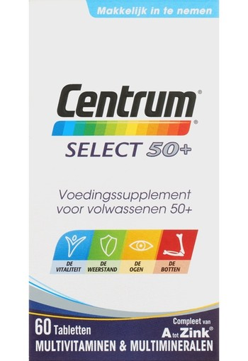 Centrum Select 50+ Tabletten 60 stuks