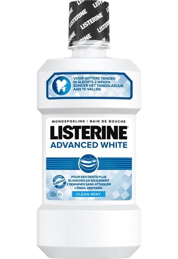 Listerine Mondwater Advanced White 500ml
