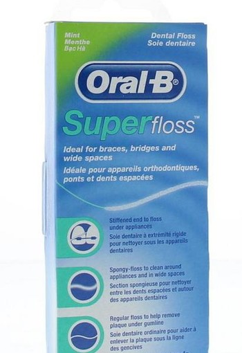 Oral B Floss super mint regular (50 stuks)