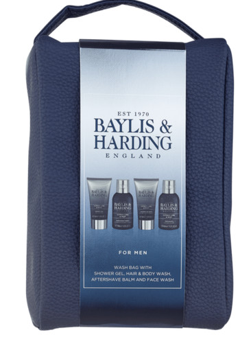 Baylis & Harding Men's Citrus Lime & Mint Wash Bag 4 stuks