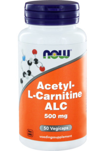 Now Acetyl L Carnitine 500 Mg 50ca