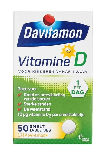 Davitamon D kind smelttablet 50 tabletten