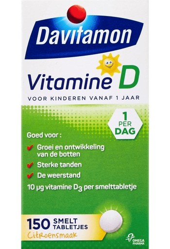 Davitamon D kind smelttablet 150 tabletten