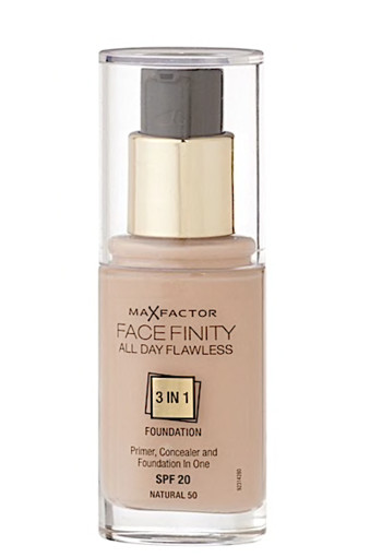 Max Factor Facefinity All Day Flawless 3-in-1 Liquid Foundation - 50 Natural