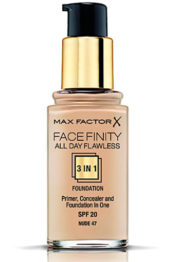 Max Factor Facefinity All Day Flawless 3-in-1 Liquid Foundation - 047 Nude