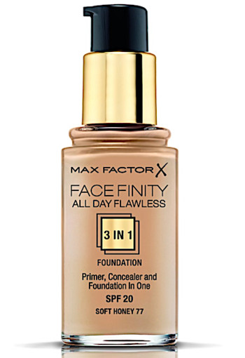 Max Factor Facefinity All Day Flawless 3-in-1 Liquid Foundation - 77 Soft Honey