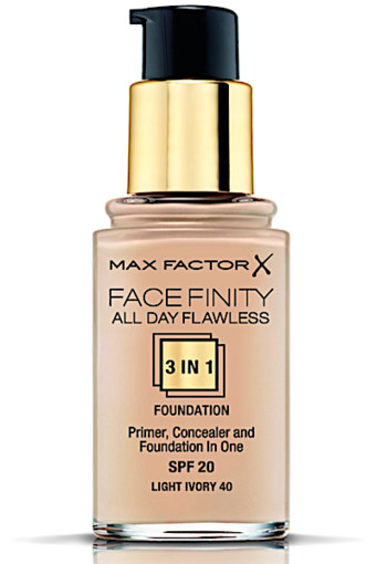 Max Factor Facefinity All Day Flawless 3-in-1 Liquid Foundation - 040 Light Ivory
