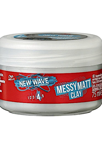 New Wave Ultimate Effect Go Matt Clay 75ml / Wella New Wave Go Matt Clay Wax.