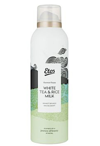 Etos Showerfoam whi­te tea & ri­ce milk 200 ml