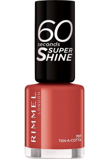 Rimmel London 60 Seconds Supershine Nailpolish - 707 Tan-A-Cotta 8 ml