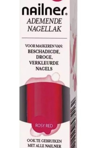Nailner Nagellak rosy red (8 ml)