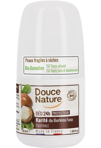 Douce Nature Deodorant roll on karite 24h (50 ml)