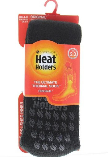 Heat Holders Ladies slipper socks 4-8 black (1 paar)