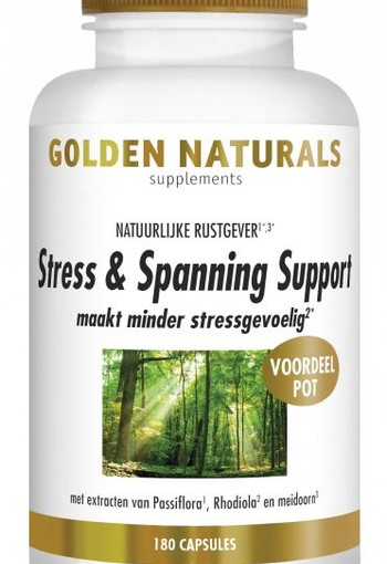 Golden Naturals Stress & spanning support (180 vcaps)