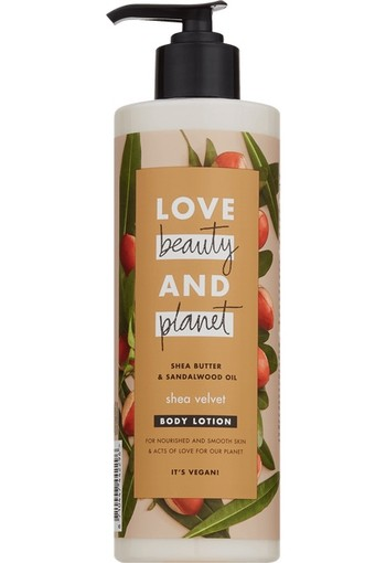 Love Beauty And Planet Shea Butter & Sandalwood Shea Velvet Bodylotion 400 ml