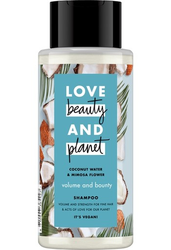 Love Beauty And Planet Volume & Bounty Coconut Water & Mimosa Flower Shampoo 400ml