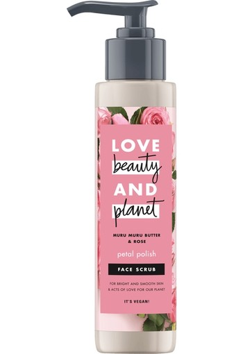 Love Beauty And Planet Muru Muru Butter & Rose Petal Polish Gezichtsscrub 125 ml