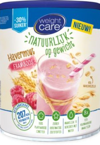 Weight Care Shake havermout framboos (440 gram)