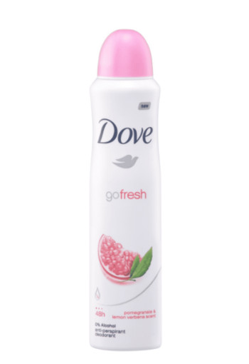 Dove Deodorant spray go fresh pomegranate & lemon verb (250 stuks)