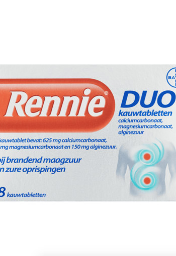Rennie Rennie duo (18 tabletten)
