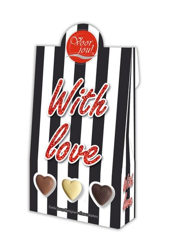 Voor Jou! Cadeau doos black & white with love (100 gram)