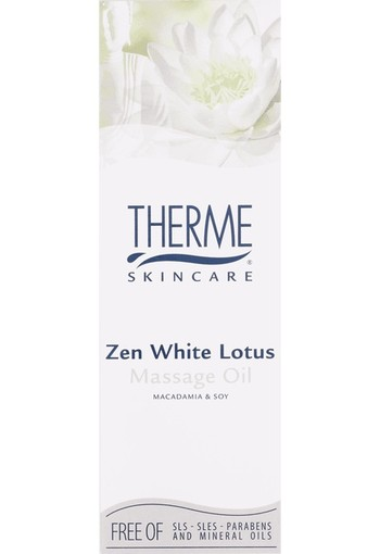 Therme Massage oil zen white lotus (125 ml)