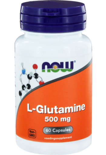 Now L-glutamine 500 Mg 60ca