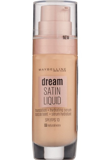Maybelline Dream Satin Liquid Foundation 1 Natural Ivory 30 ml