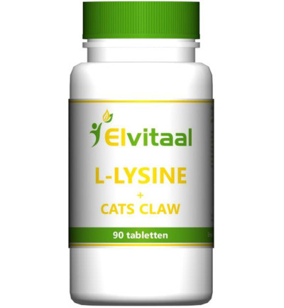 Elvitaal L-lysine Cats Claw 90st