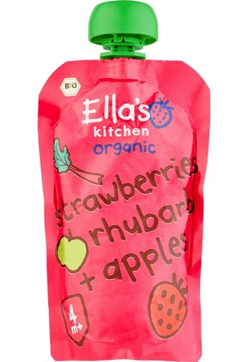 ELLA'S KITCHEN Smoothie Strawberry+Rhubarb+Apples 120 gram
