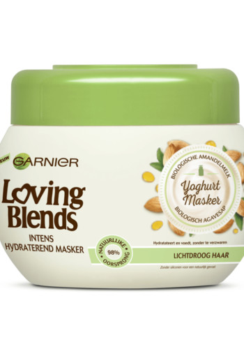 Garnier Loving Blends Amandelmelk & Bio-Agavesiroop Haarmasker 300 ML