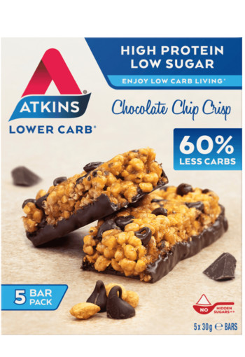 Atkins Chocolate Chip Crisp 5 Bar Multi Pack 150 gr.