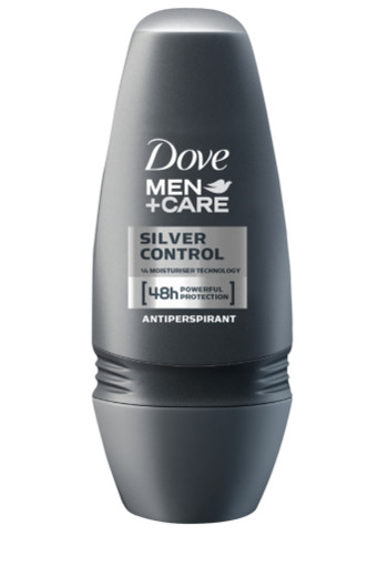 Dove Deodorant roll on men silver control (50 ml)