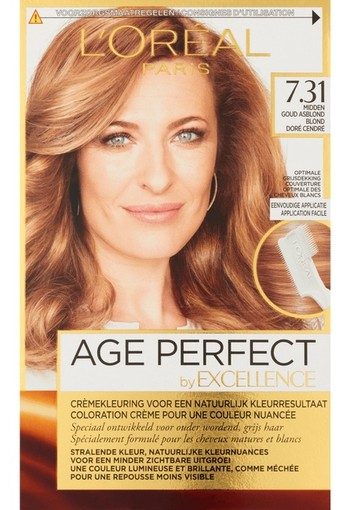 L'Oréal Paris Excellence Age Perfect 7.31 - Midden Asblond - Haarverf