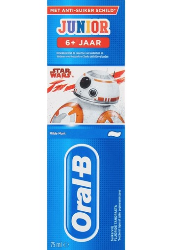 Oral-B Junior 6+ Star Wars Tandpasta 75 ml