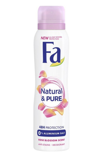 FA Deodorant spray natural & pure rose blossom (150 ml)