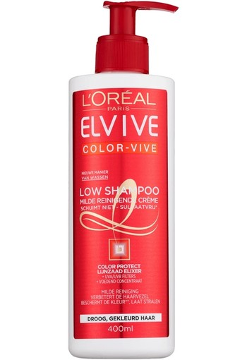 Loreal Elvive color vive low shampoo (400 ml)