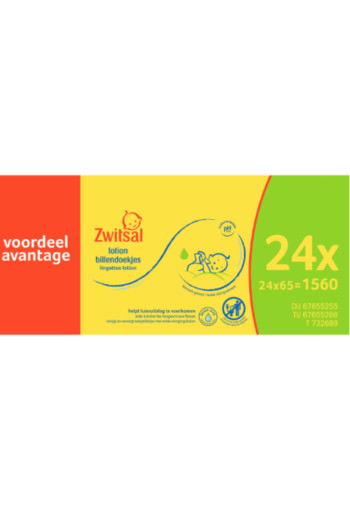 Zwitsal Billendoek Lotion 24X65st