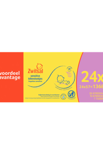 Zwitsal Wipes Sensitive 24X57st