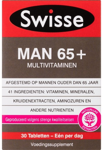 Swisse Ultivite Man 65+ Multivitaminen 30 stuks tablet