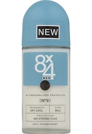 8X4 Deodorant roller men no 0 anti-perspirant (50 ml)
