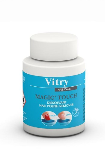 Vitry Nagellak remover magic touch zonder aceton (70 ml)