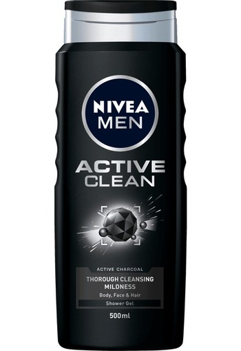 Nivea Men douche active clean (500 ml)