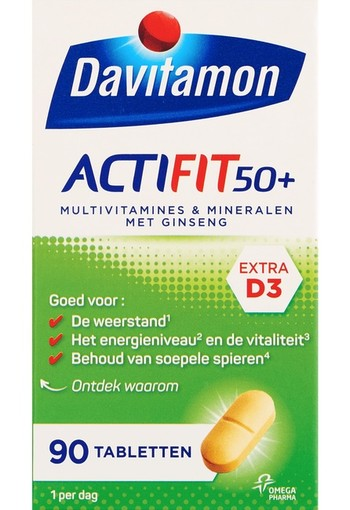 Davitamon Actifit 50+ (90 tabletten)