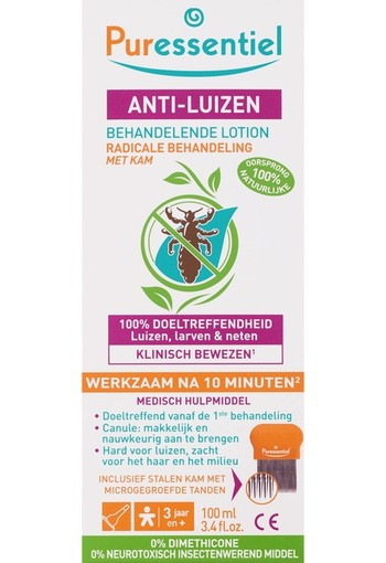 Puressentiel Anti luizen lotion & kam (100 ml)