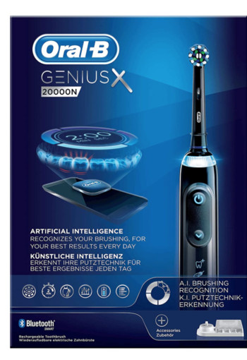 Oral-B Genius X 20000N Midnight Black Elektrische Tandenborstel Powered By Braun