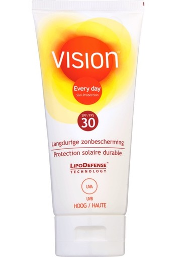 Vision Every Day Langdurige Zonbescherming Tube SPF30 | Vision High SPF30 (100 ml)